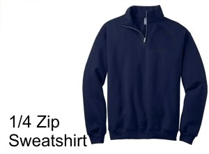 Saint Martha 1/4 Zip Sweatshirt