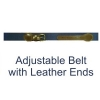 Adjustable belt w/ leather ends