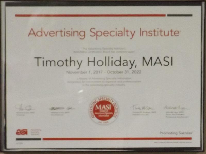 MASI Advertising Certificate