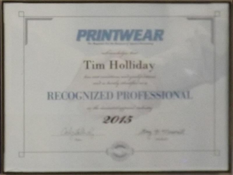 Printware certificate